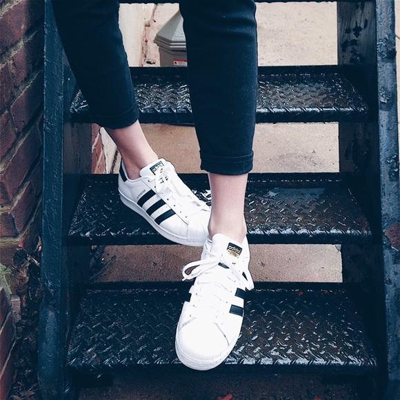 le adidas allstars in bianco e nero poshmark
